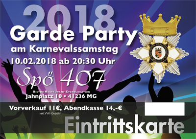 EINTRITTSKARTE  KaSa-Party